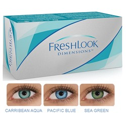 Fresh Look dimensions Dioptr (6 шт.)(caribbian agua, pacific blue, sea green)