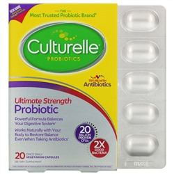 Culturelle, Probiotics, Ultimate Strength Probiotic, 20 Billion CFUs, 20 Once Daily Vegetarian Capsules
