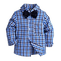 "Рубашка KIDS TALES ""Checkwork Small Blue"""