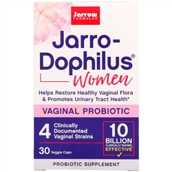 Jarrow Formulas, Jarro-Dophilus, Vaginal Probiotic, Women, 10 Billion, 30 Capsules